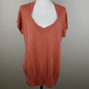 Old Navy long terracotta short sleeve sweater